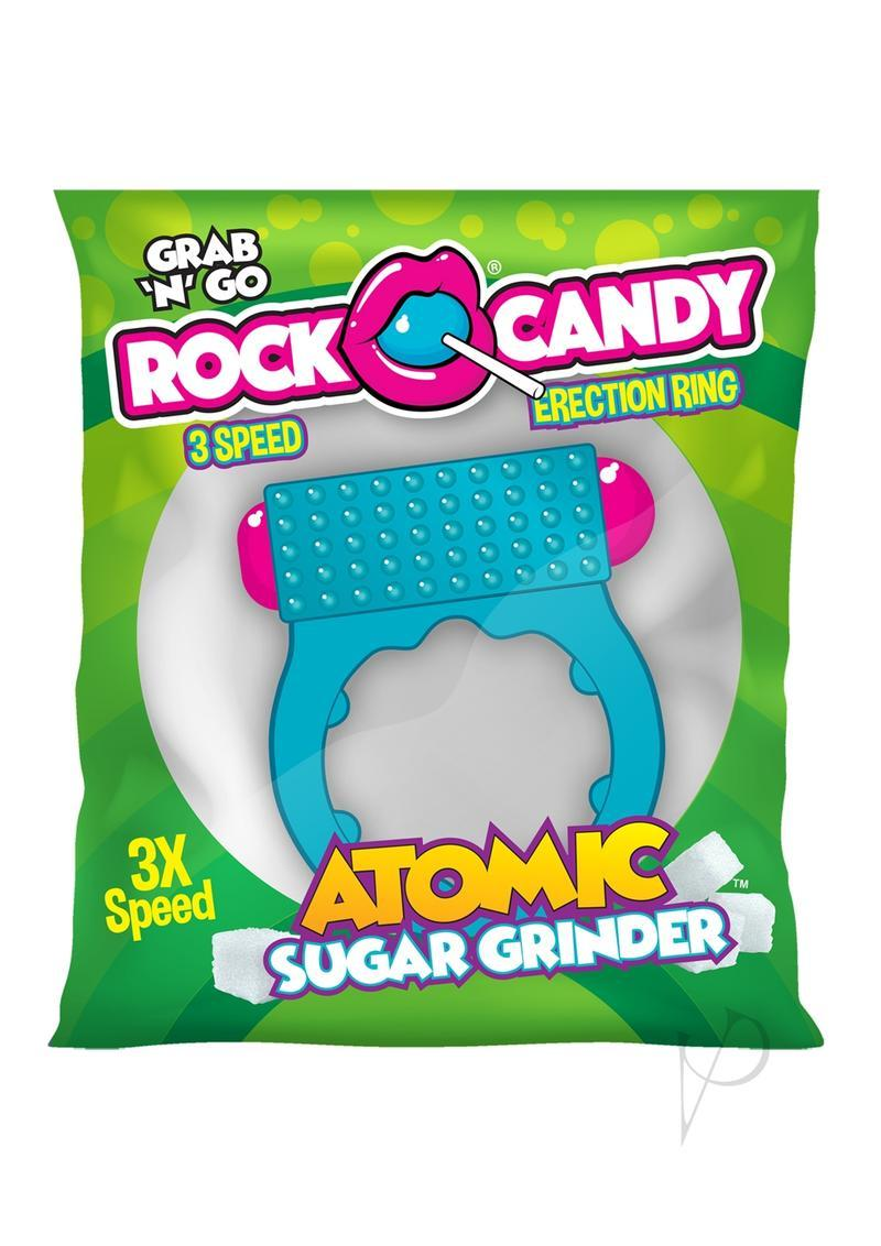Rock Candy Atomic Sugar Grinder Vibrating Cock Ring - Blue